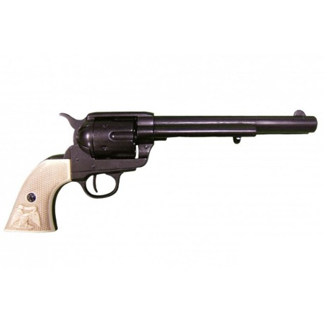 """45 caliber Peacemaker revolver 7½"""". ivory grips"""