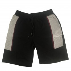 Pantalón deportivo corto Negro - Burdeos - gris