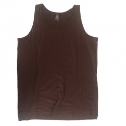Camiseta Tirantes Lisa Marron