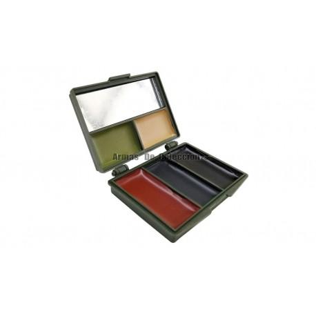 Maquillaje Camo Negro Marron Verde