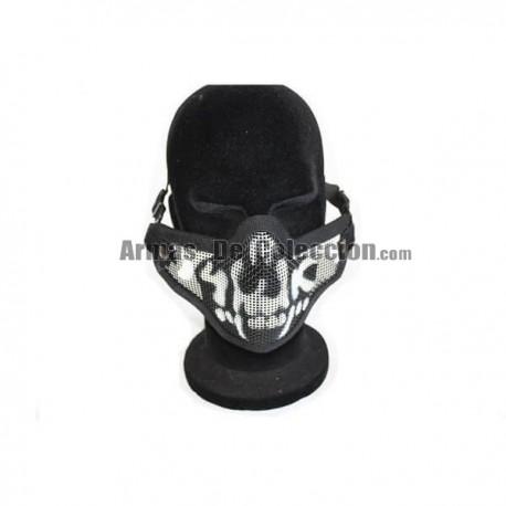 Mascara Airsoft 2G Half Face Calavera Cormillo Negra