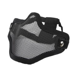 Airsoft 2G meia máscara facial preto