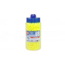 0,12 g - 6mm - Frasco 2000 BBs amarelos