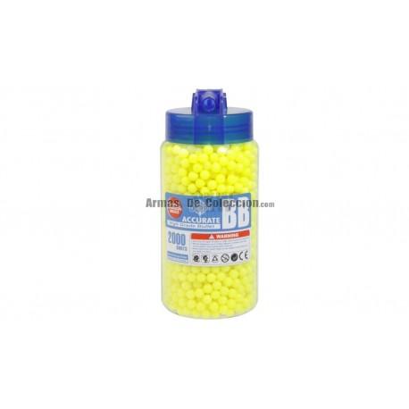 Botella 2000 BBs Amarillas