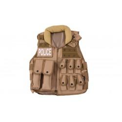 Chaleco Tactico Police Tan Delta Tactics V15