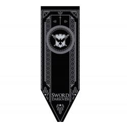 Juego de Tronos: C Guardia de la Noche. Estandarte 150 x 48 cm