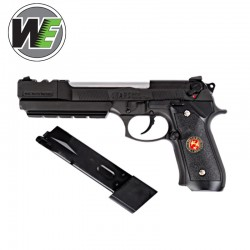 WE M92 Biohazard Extended Full Metal Negra