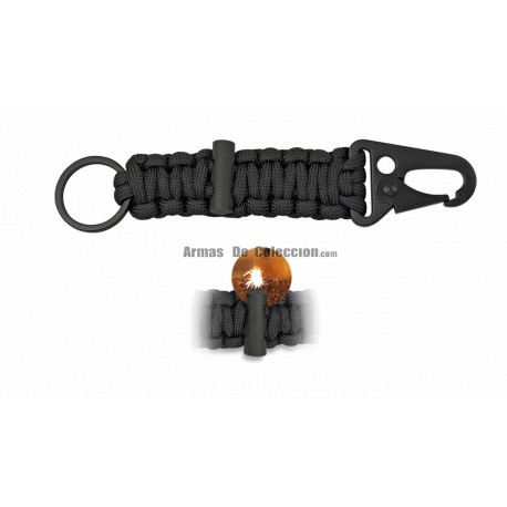Mini Carabiner with black paracord