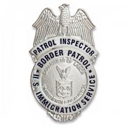 Inspetor de patrulha de placa de carteira de metal americana