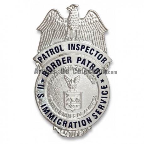 American Metal Wallet Plate Patrol Inspector