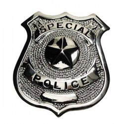 Special Police Plate Silver