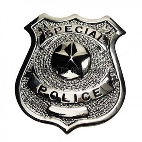 Placa Especial Polícia Prata