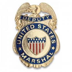 Placa metálica para cartera de Deputy Marshal
