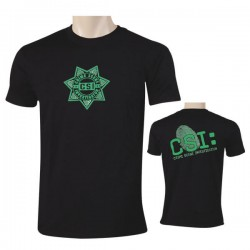 CSI T-shirt Black / Green