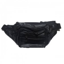 Leder Fashion Black Fanny Pack