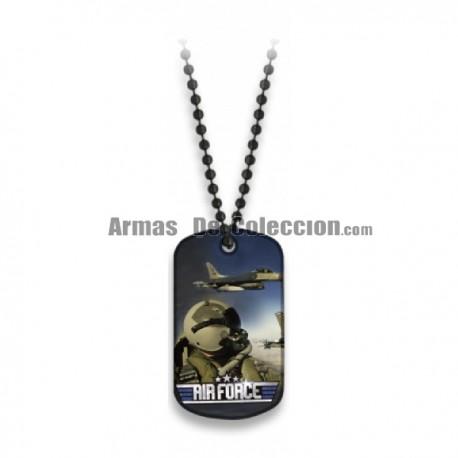 Chapa con Cadena Air Force