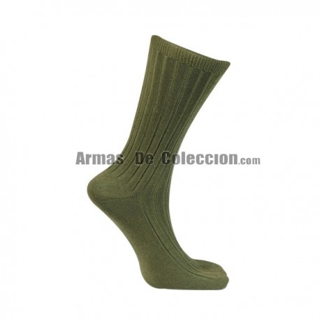 Military Green Cotton Sock