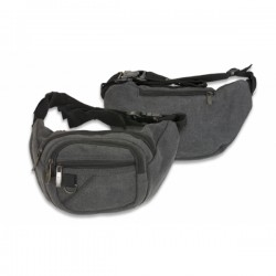 Black Barbaric Canvas Waist Bag