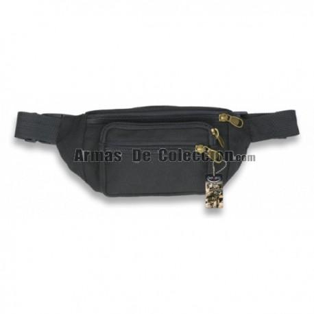 Bum bag Barbaric Canvas Zippers Black