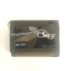 Nylon Wallet with Miltec Camo Chain