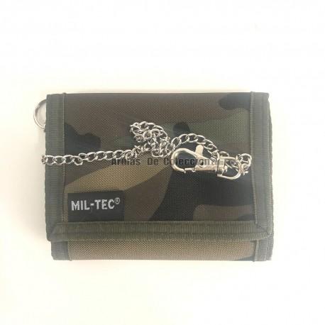 Nylon Wallet with Miltec Camo Chain