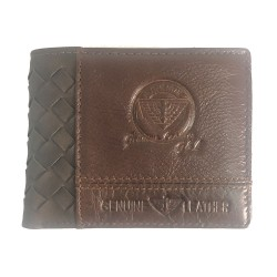 Brown Braided Genuine Wallet