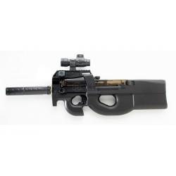 Réplica de una P90 Well D90 con accesorios (AEG iniciación 0,5 J)