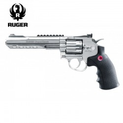 "Revólver Ruger SuperHawk 8"" Chrome - 6MM - CO2 - Full Metal"
