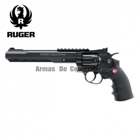 "Revólver Ruger SuperHawk 8"" negro - 6MM - CO2 - Full Metal"