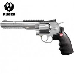 """Revólver Ruger SuperHawk 6"""" Chrome - 6MM - CO2 - Full Metal"""