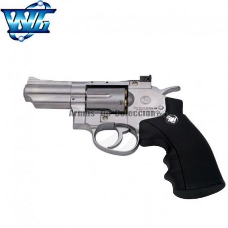"WG Sport 708 Chrome Revólver tipo Colt Phyton 2.5"" - Full Metal - 4.5 mm - CO2"