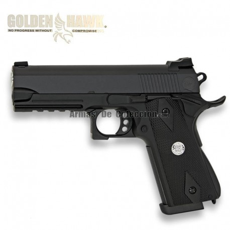 Golden Hawk Tipo HI CAPA GOVERNMENT - METAL - Pistola muelle - 6mm