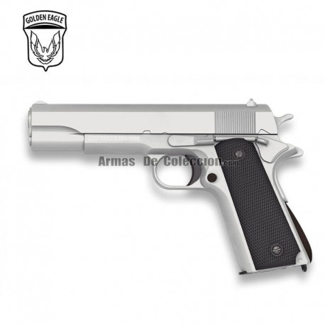 Golden Eagle Tipo Colt 1911 SILVER - METAL - Pistola muelle - 6mm