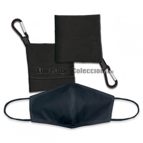 COMBO : Portamascarilla negro+Acc.Facial negro
