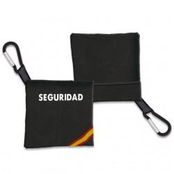 Porta-mascarilla SEGURIDAD Negro Bandera