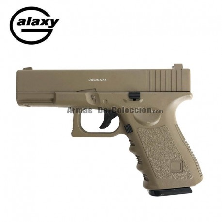 Galaxy G15 DESERT FULL METAL tipo G19 - Pistola Muelle - 6 mm