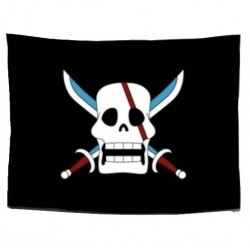 One Piece: Bandera Piratas del Pelirojo