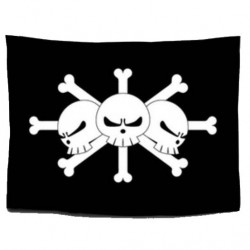 One Piece: Bandera Piratas de Barbanegra
