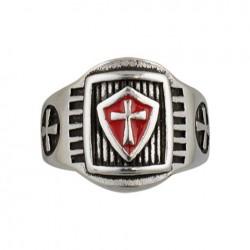 Anillo cruz Templaria