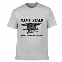 Camiseta Navy Seals (Gris-Negro)