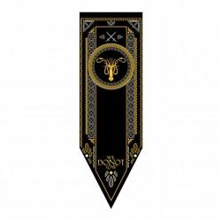 Juego de Tronos: Casa GREYJOY. Estandarte 150 x 48 cm