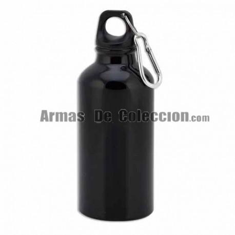 Bidón Negro 400ml con mosqueton