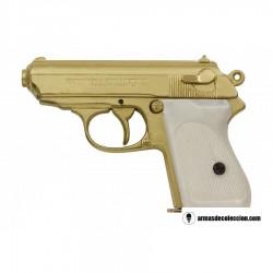 Walther PPK versión lujo oro-nacar (simulado)