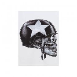 Tatuaje Temporal SOLDIER SKULL