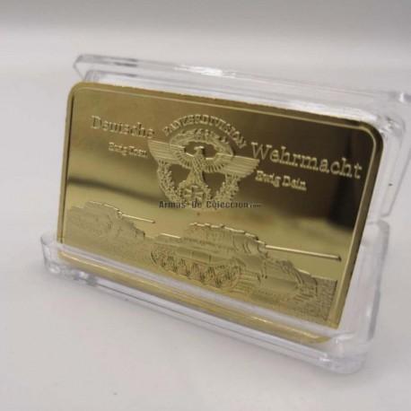 Réplica Onza de oro. Conmemorativa Wehrmacht Rommel