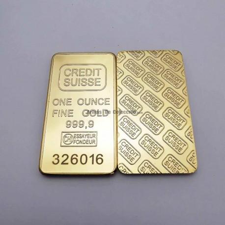 Réplica Onza de oro del Credit Suisse