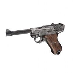 Recortable 3D Luger P08