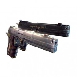 Devil May Cry - Recortable 3D de las pistolas Ebony & Ivory de Dante en Devil May Cry