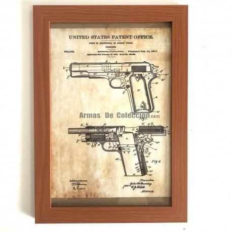 Cuadro Patente Browning 1911