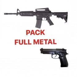 PACK FULL METAL - M4 - BERETTA BLOWBACK
